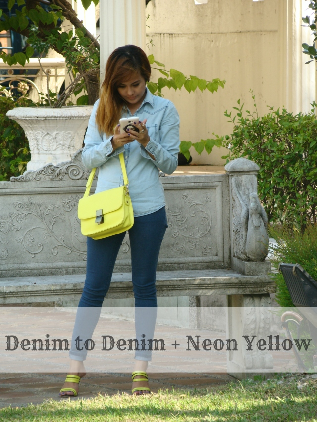 Denim + Neon Yellow